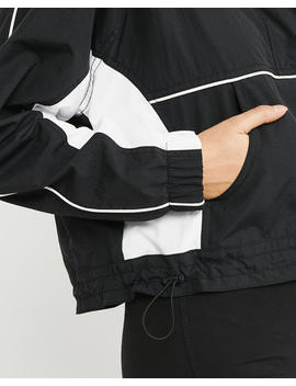 Cropped Nylon Windbreaker by Abercrombie & Fitch