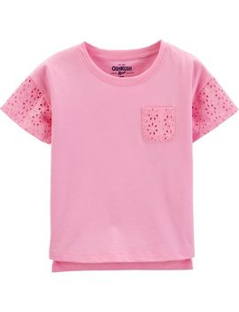 Eyelet Pocket Tee by Oshkosh