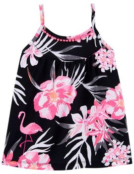 Tropical Floral Pom Trim Tank by Oshkosh