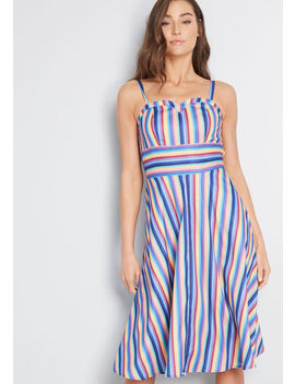 Desired Brightness Striped Sundress by Modcloth