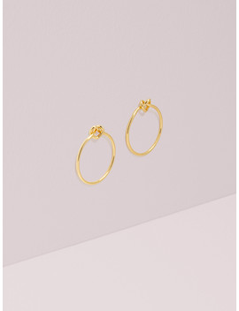 Loves Me Knot Hoops by Kate Spade