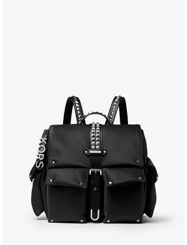 Olivia Medium Studded Satin Backpack by Michael Michael Kors