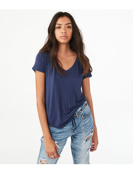 Solid V Neck Tee by Aeropostale
