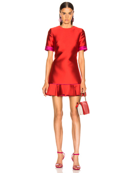 Ruffle Hem Dress by Brandon Maxwell