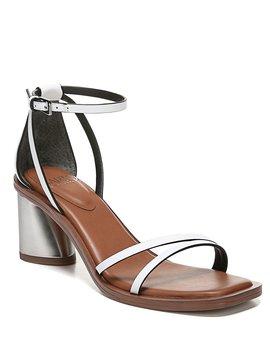 Sarto By Franco Sarto Ronelle Leather Block Heel Sandals by Franco Sarto