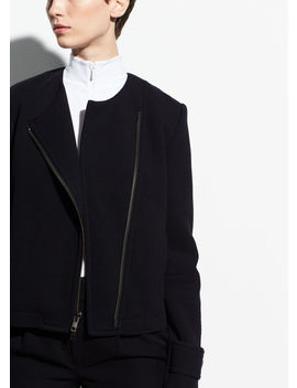 Cotton Cross Front Jacket by Vince