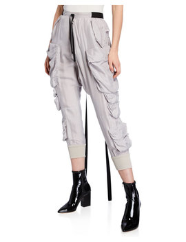 Silk Cargo Parachute Pants by Unravel