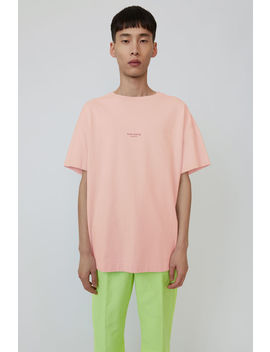 Logo T Shirt Pale Pink by Acne Studios