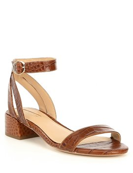 Mabbela Leather Ankle Strap Block Heel Sandals by Antonio Melani