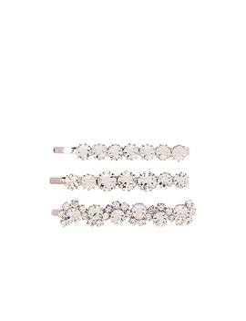 Set Of 3 Hair Pins by Alessandra Rich