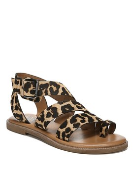 Kehlani Leopard Print Block Heel Sandals by Franco Sarto