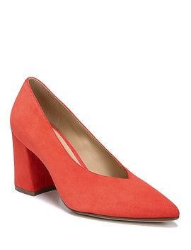 Hope Suede Block Heel Pumps by Naturalizer