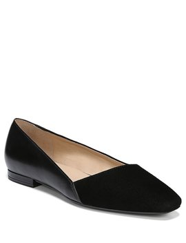 Keiva Leather And Suede Dress Flats by Naturalizer