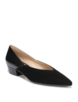 Betty Suede And Leather Pumps by Naturalizer