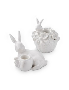 Mixed Easter Bunny Tiny Taper Holder, Set Of 2 by Williams   Sonoma