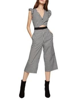Gingham Cropped Culotte Jumpsuit by Bcbgeneration