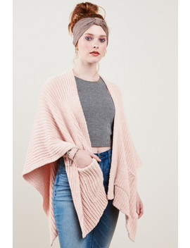 Peach Chenille Shawl by Earthbound