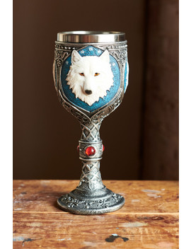 White Wolf Wine Glass by Earthbound