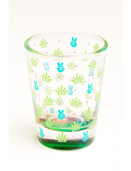 Eb Exclusive: Peace And Pot Shot Glass by Earthbound