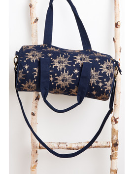 Navy Sun Print Duffel Bag by Earthbound