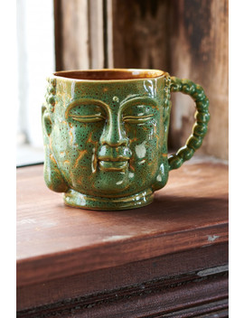 Green Buddha Head Mug by Earthbound