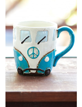 Blue Peace Wagon Ceramic Mug by Earthbound