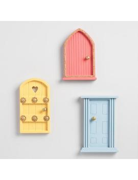 Painted Wood Fairy Doors Set Of 3 by World Market