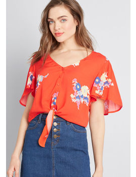 Breezy Tendency Crop Top by Modcloth