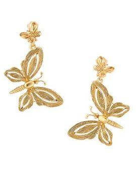 Butterfly Clip On Earrings by Oscar De La Renta