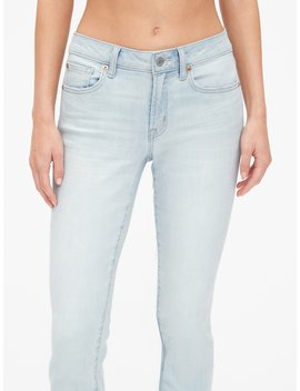 Mid Rise Curvy True Skinny Ankle Jeans With Raw Hem by Gap