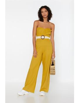 See Me In The Bandeau Linen Jumpsuit by Nasty Gal