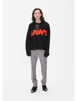 Intarsia Jaws Sweater by Calvin Klein 205 W39 Nyc