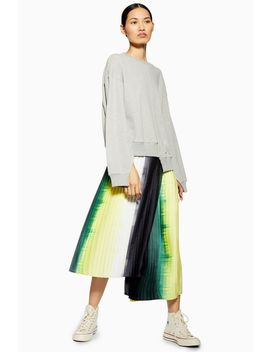 **Tie Dye Pleated Skirt By Boutique by Topshop