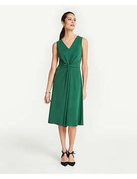 matte-jersey-knot-front-midi-dress by ann-taylor