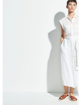 Rolled Sleeve Shirt Dress by Vince