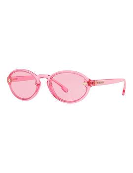 Oval Transparent Propionate Sunglasses by Versace