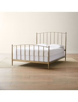 Mason Brass Bed by Crate&Barrel