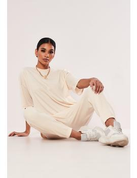 Stone Oversized T Shirt And Jogger Co Ord Set by Missguided
