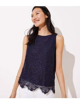 Scalloped Lace Tank by Loft
