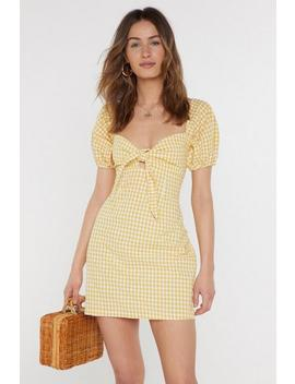 Gingham Tie Bust Mini Dress by Nasty Gal