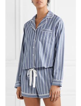 striped-poplin-pajama-set by rails