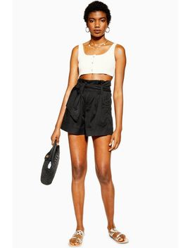 Black Utility Shorts by Topshop
