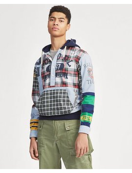 Patchwork Oxford Hoodie by Ralph Lauren