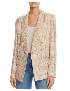 Tweed Double Breasted Blazer   100% Exclusive by Aqua