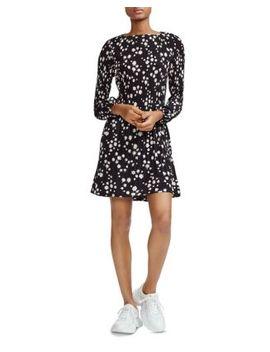 Rockiz Pleated Daisy Print Dress by Maje