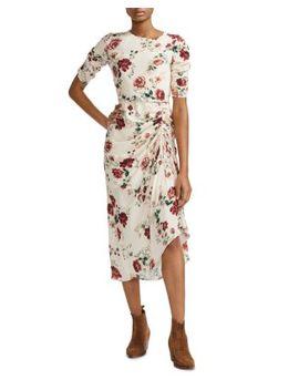 Rondi Floral Print Dress by Maje