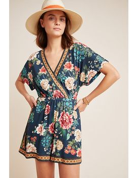 Farm Rio Floral Romper by Farm Rio For Anthropologie