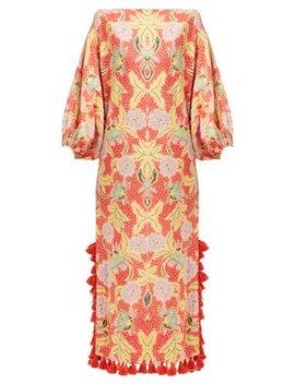 Delilah Floral Print Cotton Midi Dress by Rhode Resort