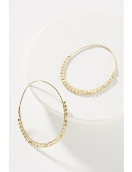 Beaded Wire Hoop Earrings by Anthropologie