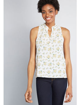 Melodic Moxie Sleeveless Blouse by Modcloth